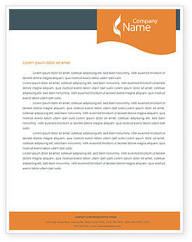 Power Line Letterhead Template, 01638, Utilities/Industrial — PoweredTemplate.com