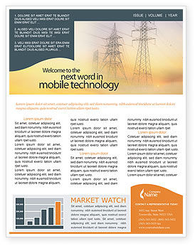 Power Line Newsletter Template, 01638, Utilities/Industrial — PoweredTemplate.com