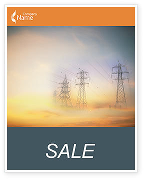 Power Line Sale Poster Template