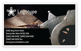 Legal: Deputy Sheriff Business Card Template #01641