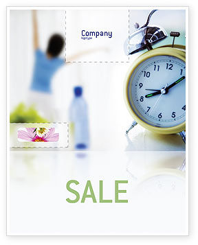 Morning Exercises Sale Poster Template, 01644, Sports — PoweredTemplate.com