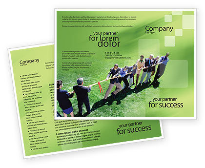 Problem Solution Brochure Template, 01645, Business Concepts — PoweredTemplate.com