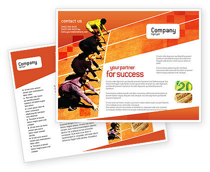 Office Race Brochure Template, 01651, Business Concepts — PoweredTemplate.com