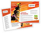 Business Concepts: Office Race Brochure Template #01651