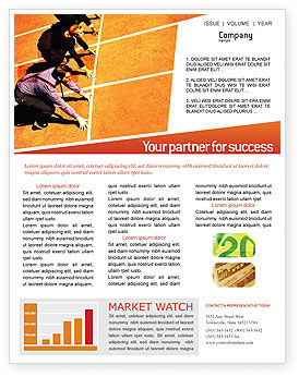 Office Race Newsletter Template, 01651, Business Concepts — PoweredTemplate.com