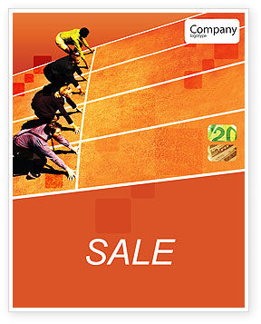 Business Concepts: Office Race Sale Poster Template #01651