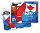 Flags/International: Canadian Flag Brochure Template #01654
