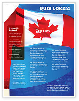 Canadian Flag Flyer Template, 01654, Flags/International — PoweredTemplate.com