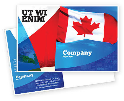 Canadian Flag Postcard Template