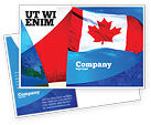 Flags/International: Canadian Flag Postcard Template #01654