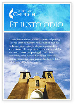 Religious/Spiritual: San Francisco de Asis Mission Church Ad Template #01655
