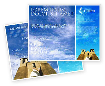 San Francisco de Asis Mission Church Brochure Template, 01655, Religious/Spiritual — PoweredTemplate.com