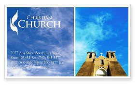 San Francisco de Asis Mission Church Business Card Template, 01655, Religious/Spiritual — PoweredTemplate.com
