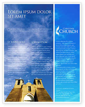 Religious/Spiritual: San Francisco de Asis Mission Church Flyer Template #01655