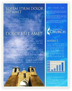 Religious/Spiritual: San Francisco de Asis Mission Church Newsletter Template #01655
