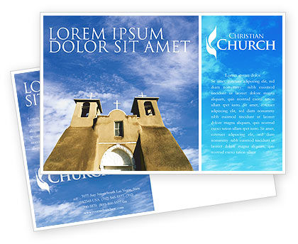 Religious/Spiritual: San Francisco de Asis Mission Church Postcard Template #01655