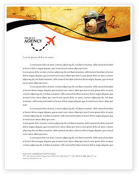 Careers/Industry: Travel Letterhead Template #01669