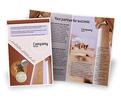 Construction: Ancient Greece Brochure Template #01670