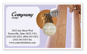 Construction: Ancient Greece Business Card Template #01670