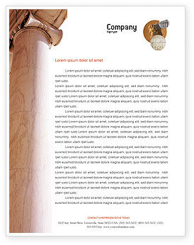 Ancient Greece Letterhead Template, 01670, Construction — PoweredTemplate.com