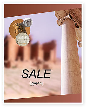 Ancient Greece Sale Poster Template, 01670, Construction — PoweredTemplate.com