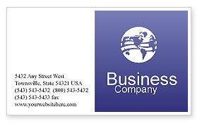 Construction: Road Interchange Business Card Template #01673