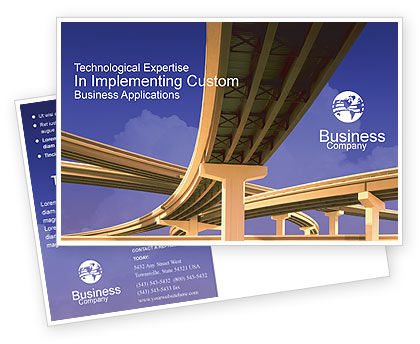 Road Interchange Postcard Template