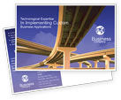 Construction: Road Interchange Postcard Template #01673