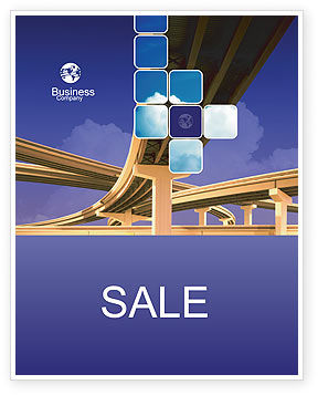 Construction: Road Interchange Sale Poster Template #01673