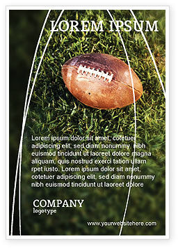 Sports: American Football Play Off Ad Template #01674