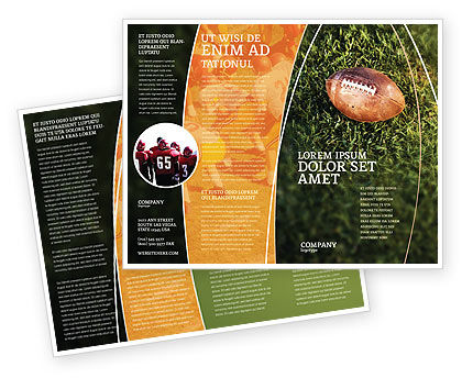 American Football Play Off Brochure Template, 01674, Sports — PoweredTemplate.com