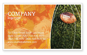 American Football Play Off Business Card Template, 01674, Sports — PoweredTemplate.com
