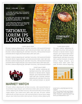 American Football Play Off Newsletter Template, 01674, Sports — PoweredTemplate.com