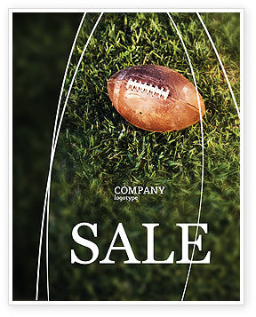 American Football Play Off Sale Poster Template, 01674, Sports — PoweredTemplate.com