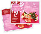 Holiday/Special Occasion: Christmas Bells On A Pink Background Brochure Template #01679