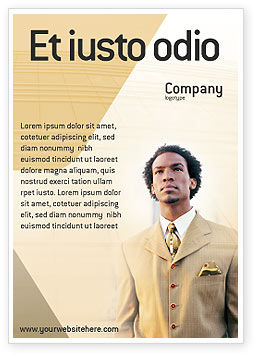 Career Of Afro-Americans Ad Template, 01688, Business — PoweredTemplate.com