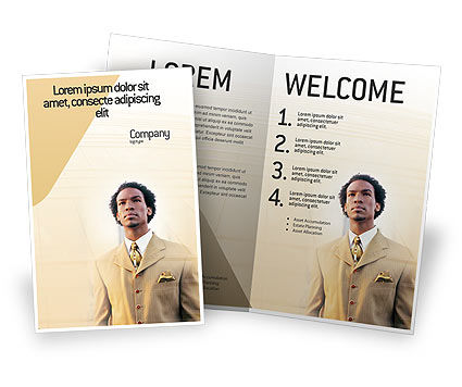 Business: Carrière Van Afro-amerikanen Brochure Template #01688