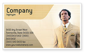 Business: Career Of Afro-Americans Business Card Template #01688
