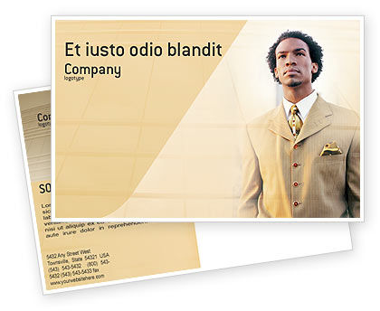 Business: Career Of Afro-Americans Postcard Template #01688