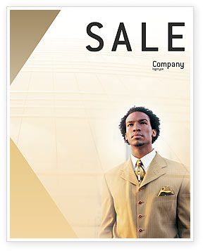 Business: Career Of Afro-Americans Sale Poster Template #01688