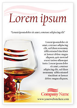 Food & Beverage: Brandy Ad Template #01692