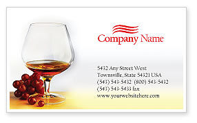 Food & Beverage: Brandy Business Card Template #01692