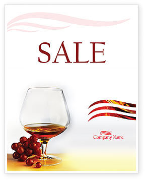 Food & Beverage: Brandy Sale Poster Template #01692
