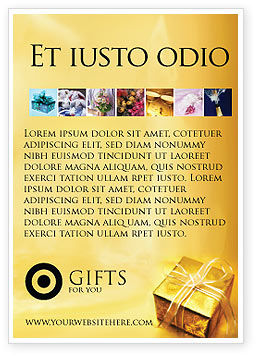 Holiday/Special Occasion: A Gift For Christmas Ad Template #01694