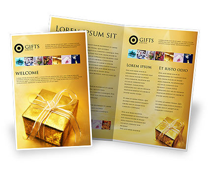 A Gift For Christmas Brochure Template, 01694, Holiday/Special Occasion — PoweredTemplate.com
