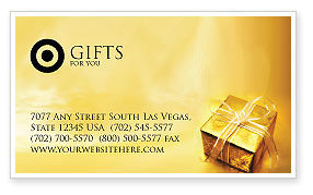 Holiday/Special Occasion: A Gift For Christmas Business Card Template #01694