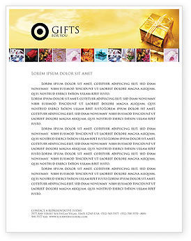 Holiday/Special Occasion: A Gift For Christmas Letterhead Template #01694