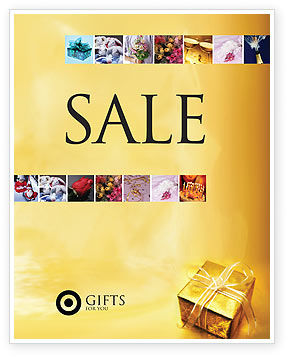 A Gift For Christmas Sale Poster Template, 01694, Holiday/Special Occasion — PoweredTemplate.com