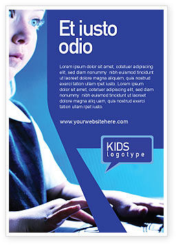 Computer and Kid Ad Template