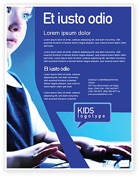 Technology, Science & Computers: Computer and Kid Flyer Template #01695